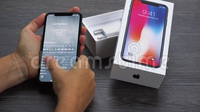 Nuovo iPhone X stock footage