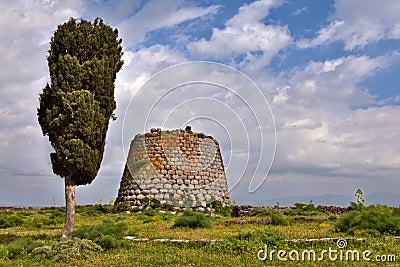 Nuraghe tower sardinia Italy bronze age ruin