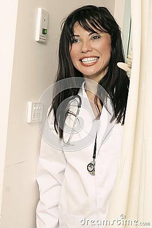 Nurse in attendance