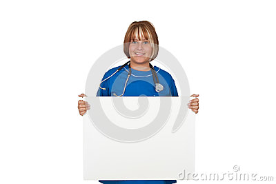 Nurse with board