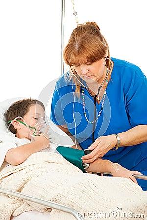 Nurse Caring for Sick Child