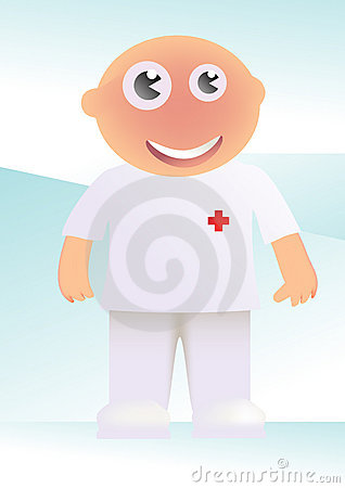 Nurse Cartoon Stock Photo - Image: 4980870