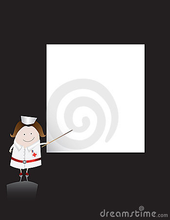 Nurse character and blank sheet