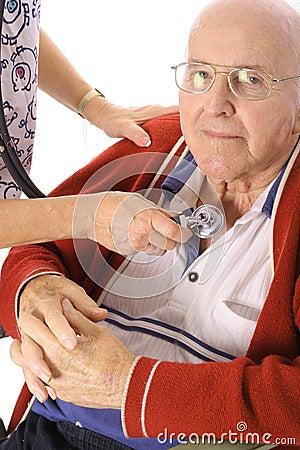 Nurse checking patient stats