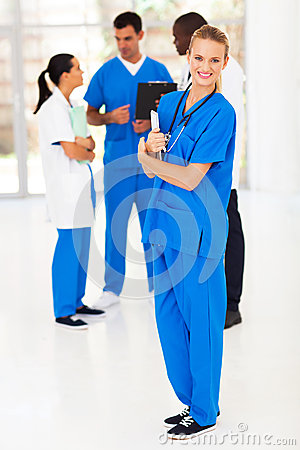 Nurse and colleagues
