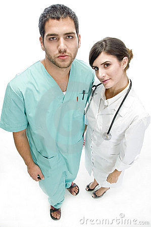 Nurse and doctor aerial view