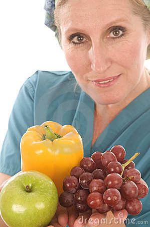 Nurse doctor medical female vegetables