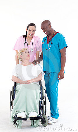 Nurse And Doctor Taking Care Of A Patient Royalty Free ...