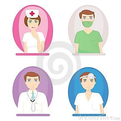 Nurse and doctors vector