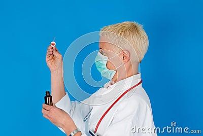 Nurse with face mask
