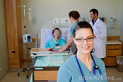 Nurse in forefront of health team