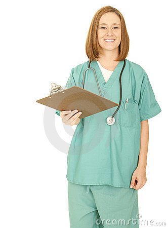 Nurse Giving Clip Board