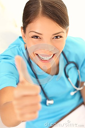 Free Nurse Happy Thumbs Up Smile Stock Photo - 28024790