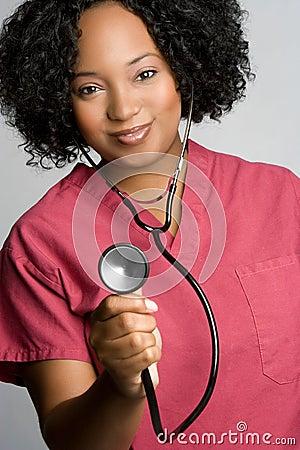 Free Nurse Holding Stethoscope Stock Photo - 11583860