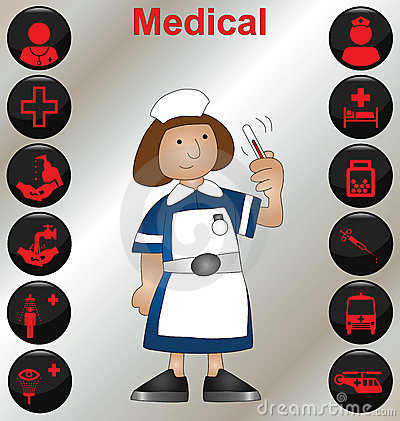 Nurse and icons