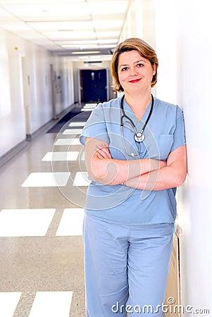 Free Nurse In A Hospital Stock Photo - 3165630