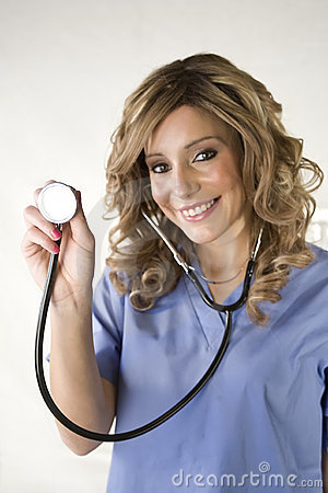 Free Nurse Isolated On White Stock Photography - 8014272