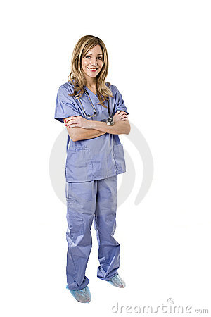 Nurse isolated on white background