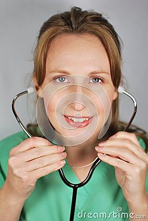 Free Nurse Listening Stock Images - 12992944