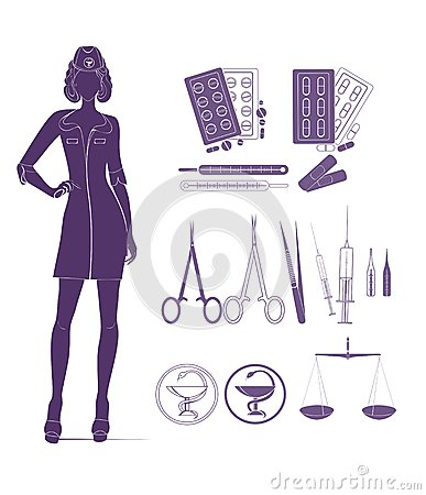 Medical background with nurse