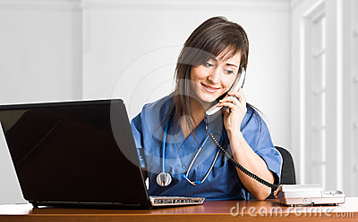Nurse on the phone