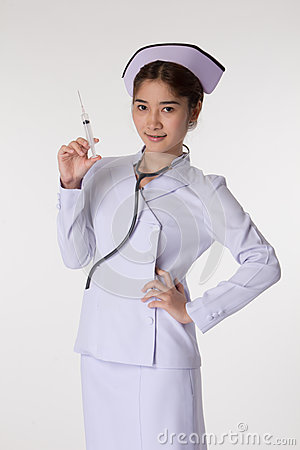 Nurse preparing a vaccination