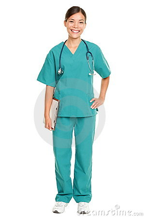 Free Nurse Standing Smiling Royalty Free Stock Photo - 20950205