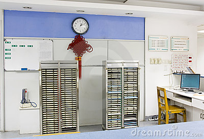 Nurse station in hospital