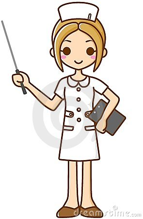 Nurse with a stick