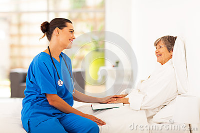 Nurse visiting patient
