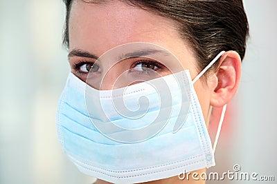 Nurse wearing surgical mask