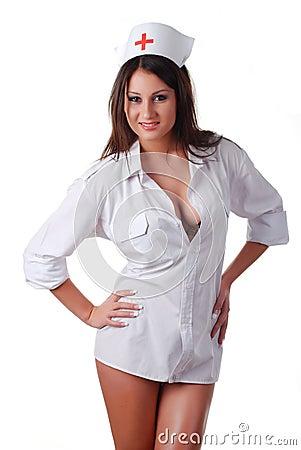 Nurse in white coat