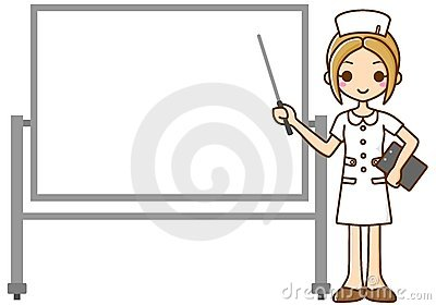 Nurse and whiteboard
