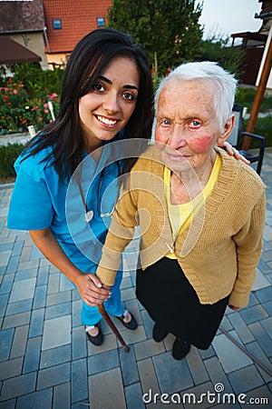Free Nurse With Elderly Woman Stock Photos - 33049163