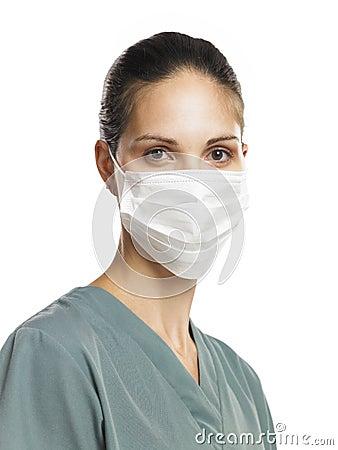 Free Nurse With Mask 2 Stock Image - 16807521