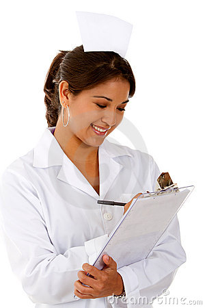 Nurse writing