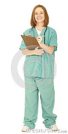 Nurse Writing On The Board