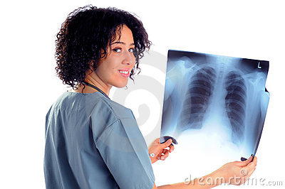 Nurse With X-Ray