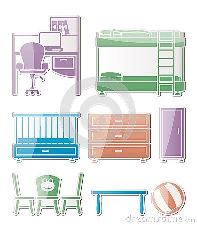 Nursery and children room objects
