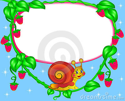 Nursery frame for photo snail with berry