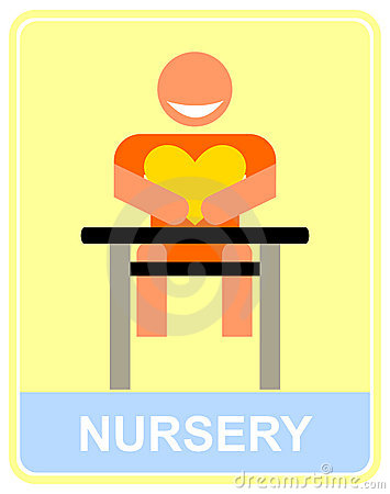Nursery - vector icon, sign.