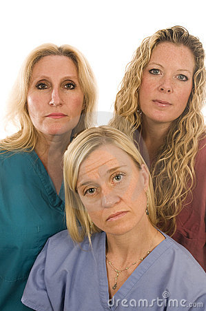 Free Nurses Medical Females Serious Expression Royalty Free Stock Image - 10484946