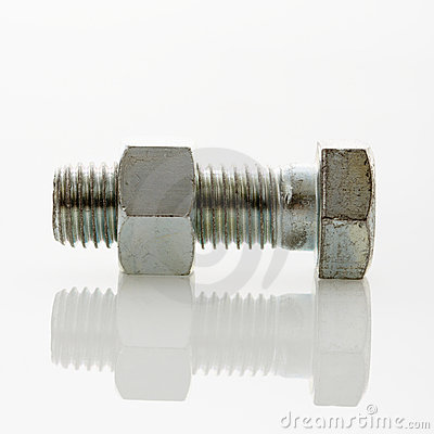Nut and bolt.