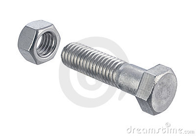 Nut and Bolt (with clipping path)