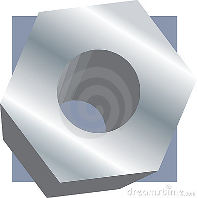Nut or bolt illustration