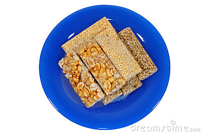 Nut-and-honey bar
