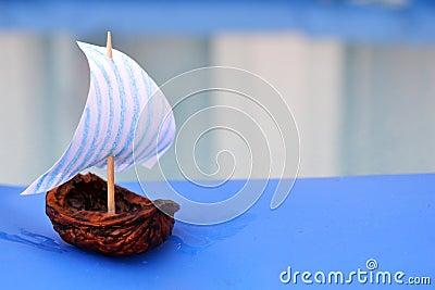 Nut Shell Sailing Boat