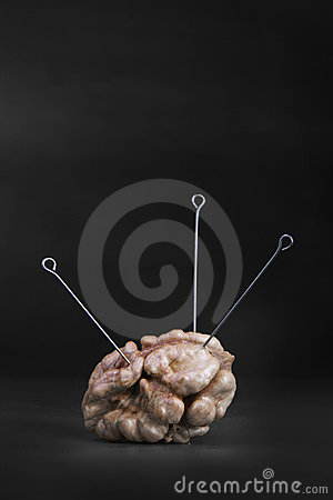 Nut with a three needles on a