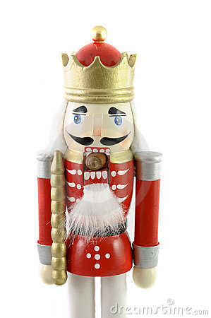 Nutcracker with nut in mouth