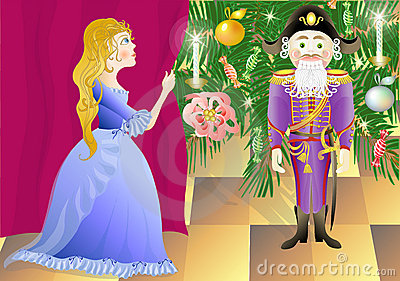 Nutcracker and princess Mari (vector)